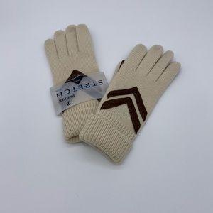 ISOTONER LYCRA Women's Gloves Stretch Knit Ivory